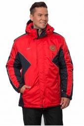 Мужская утепленная куртка зимняя с гербом России (68M-AR-563-2)