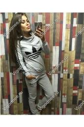 Женский теплый спортивный костюм AS серый купить (22574)