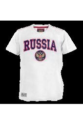 Футболка Russia классика белая арт. 131740