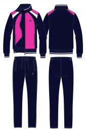 Детский спортивный костюм цвет фуксия (11C-RR-1048-4)
