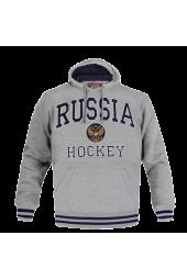 Мужская толстовка Россия RUSSIA серая  (арт.150080)