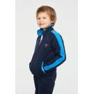 Детский утепленный спортивный костюм хлопковый цвет темно-синий с васильком (12C-RR-1097-2)