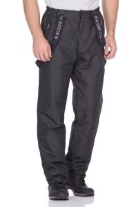 Мужские утепленные брюки на флисе черные (26M-RR-1089)