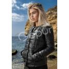 Женская весенняя куртка на синтепоне черная (8993)
